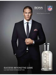 Clay Matthews modeled for Hugo Boss Parfums in 2014.