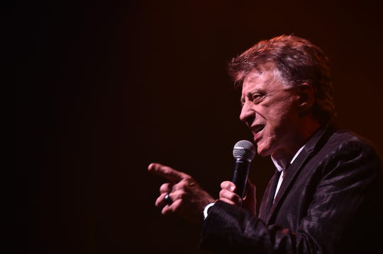 "Frankie Valli performs at ""Frankie Valli and The Four Seasons"" Broadway opening night on Oct. 21 in New York City."