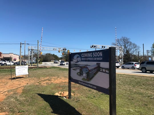 A Waves Express Car Wash is planned on a lot at the intersection of Fairview Road and Southeast Main Street in Simpsonville. It's pictured here on March 6, 2019.
