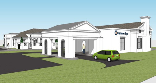 This rendering depicts Clemson Eye's planned new office on Harrison Bridge Road in Simpsonville.