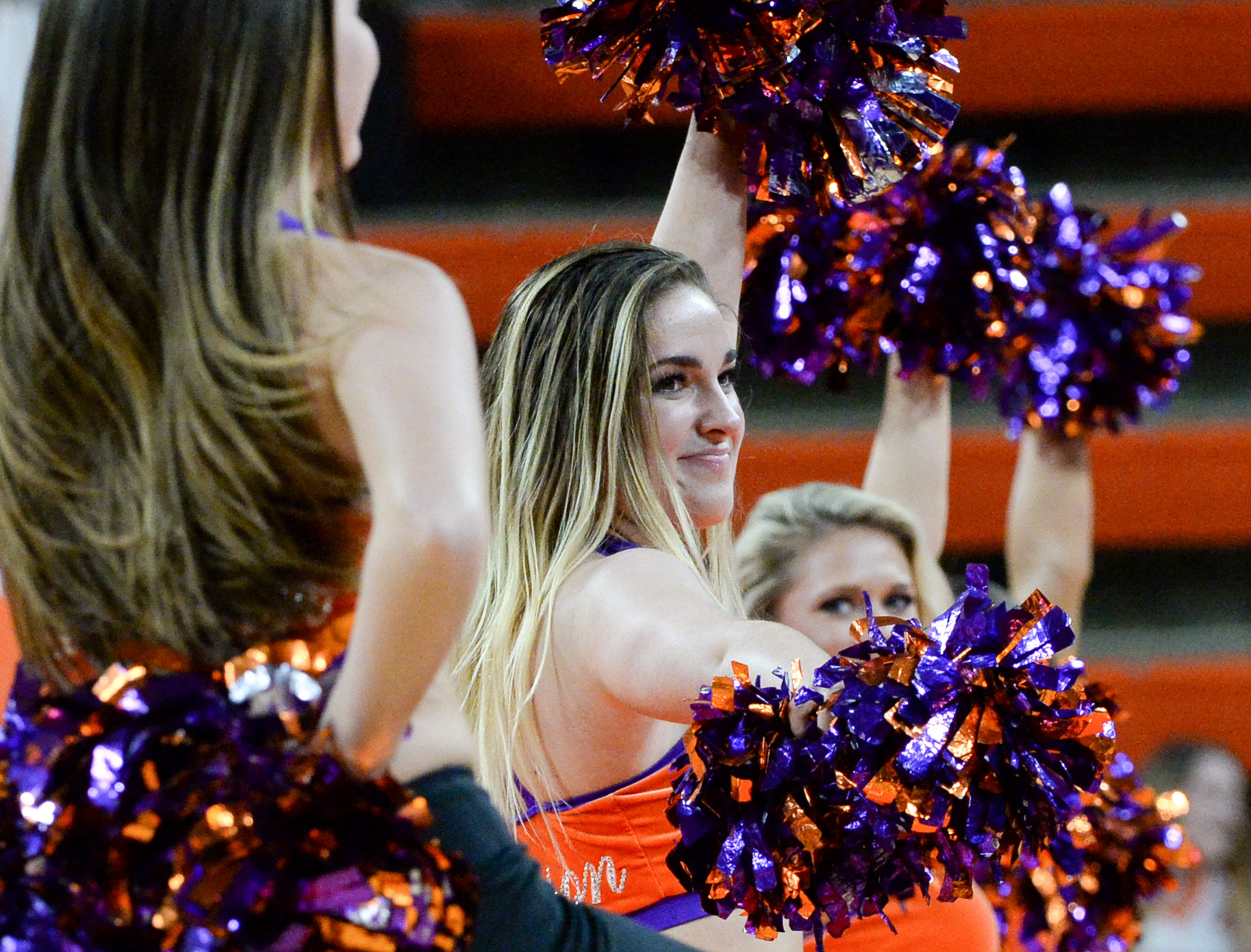 Clemson Rally Cats during the second half of the NIT at Littlejohn Coliseum in Clemson Tuesday, March 19, 2019.