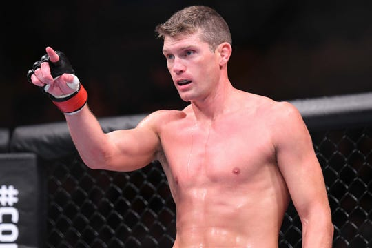 "Stephen ""Wonderboy"" Thompson of Simpsonville ready for his fight against Darren Till on May 27, 2018, in Liverpool, United Kingdom."