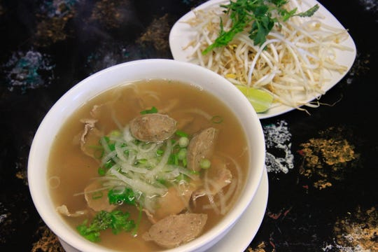 The house special pho is savored with beef sausage, brisket and strips of beef roast.