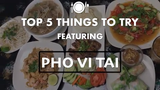 "This episode of ""Top 5 Things to Try"" features Pho Vi Tail. The top five item recommendations were given owner, Carol Tran."