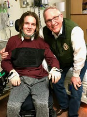 Jack Racicot was recently visited by Attorney General Tim Fox at a hospital in Utah.