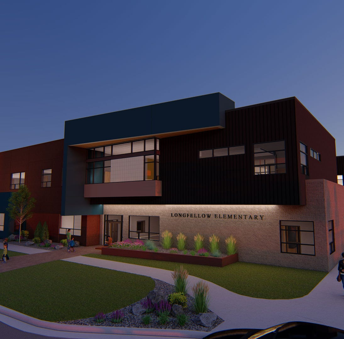 Longfellow Elementary design released; mascot under consideration