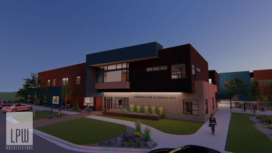 Rendering of the future Longfellow Elementary by LPW Architects.