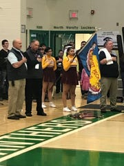 The MHSA Executive Board has amended the language of its flag presentation rule to allow tribal flags on the floor along with the U.S. and Montana flags during the national anthem at postseason tournaments.
