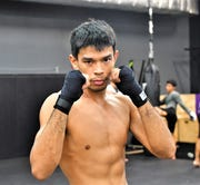 Jeff Mesa, Guam MMA fighter and bantamweight, is shown at Steel Athletics gym on March 19, 2019.