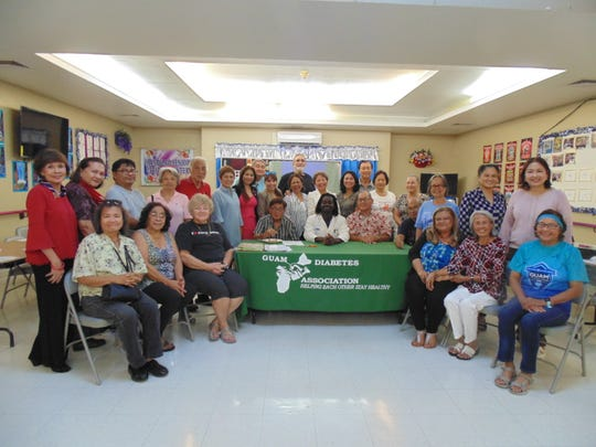 """The Guam Diabetes Association held its monthly Diabetes Education Session on Feb. 12 at the Mangilao Senior Center. The guest speaker was Dr. Verrad Kwasi Nyame, a neurosurgeon specialist from GRMC. His power-point presentation was titled """"Advances in the Diagnosis and treatment of Type 2 Diabetes."""" Pictured are attendees of the event."""