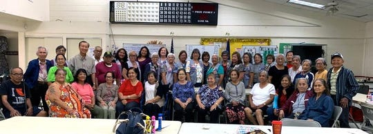 """In fulfilling their service project of """"Caring for the Sick and the Elderly,"""" members of the Guam Sunshine Lions Club visited the Astumbo Senior Citizens Center on March 13. The members brought song, cheer, and bingo dabbers to the seniors. Everyone enjoyed the fellowship and the Lions had fun playing bingo with the manamko'."""