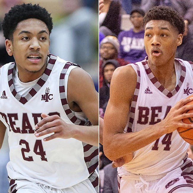 Lawrence Central duo Nijel Pack (left) and D'Andre Davis (right) are among the Junior Indiana All-Stars core group.