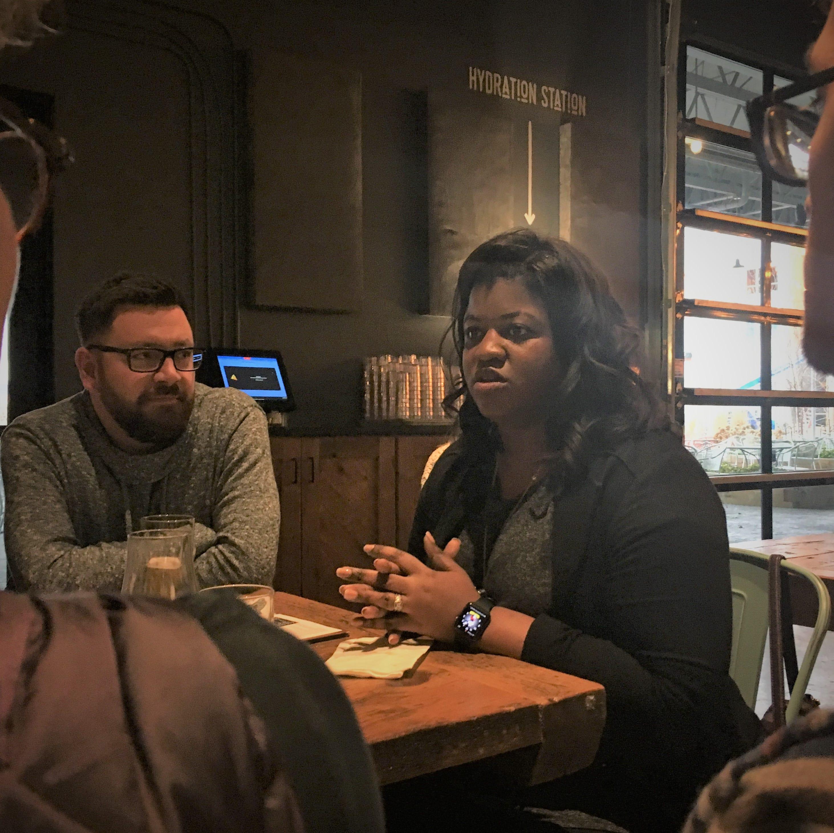 Deidre DeJear ran for office here. Now, she's running Kamala Harris' Iowa campaign.