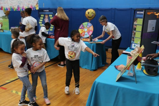 Children say no to tobacco on Kick Butts Day at the Greater Ithaca Activities Center.