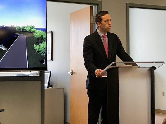 Bobrick VP of Corporate Development Matthew Louchheim thanks the employees during their expansion announcement on March 19 in  Jackson, Tenn.