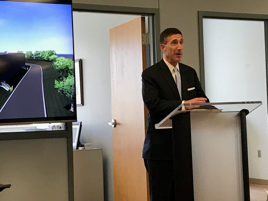 Congressman David Kustoff (TN-8) speaks during the Bobrick expansion announcement on March 19 in Jackson, Tenn.