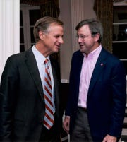 Dwight Tarwater, right, served as general counsel to former Tennessee Gov. Bill Haslam for four years.