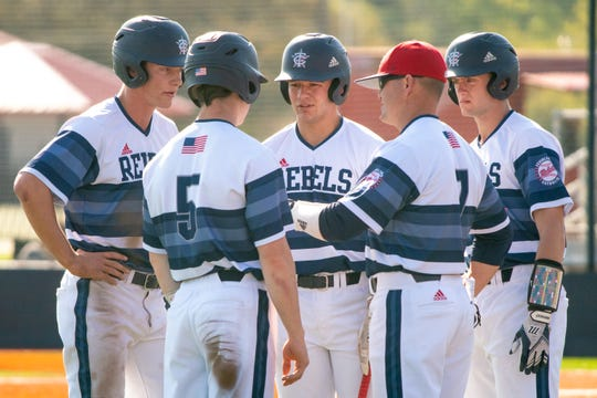 The Teurlings Rebels baseball team is shown at a game in the 2019 season. Former Rebel Brooks Badeaux has been chosen as the program's new head coach.