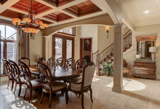 The dining and living areas are all open and inviting.