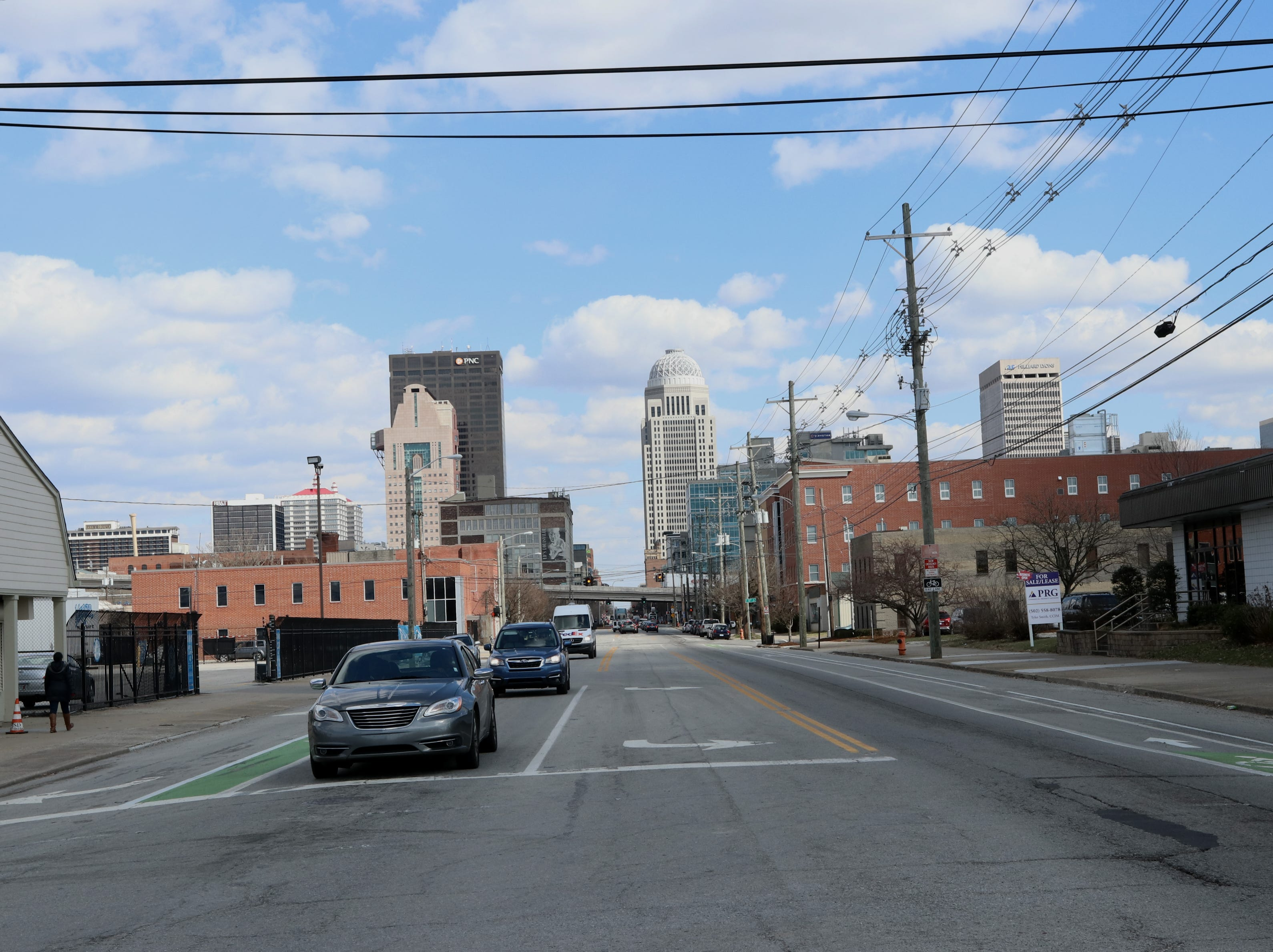 West Main Street enters downtown Louisville from the Portland neighborhood.