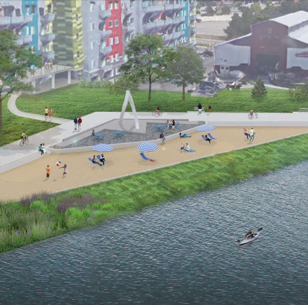 A sandy beach is coming to Lansing's riverfront