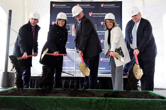 Ground was broken Wednesday morning at the former Big Lots building, 1033 Ashland Road, which will be the new home of UH Samaritan Richland Health Center.