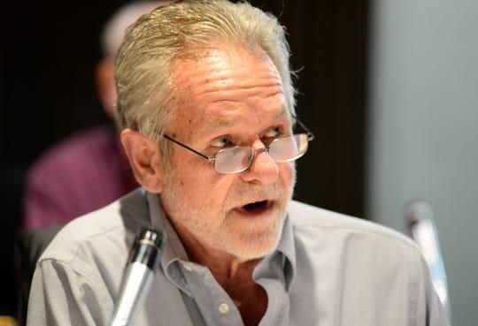 Third Ward councilman John Van Harlingen at Mansfield City Council on March 19, 2019.