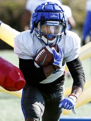 Memphis running back Kenneth Gainwell during spring football practice.