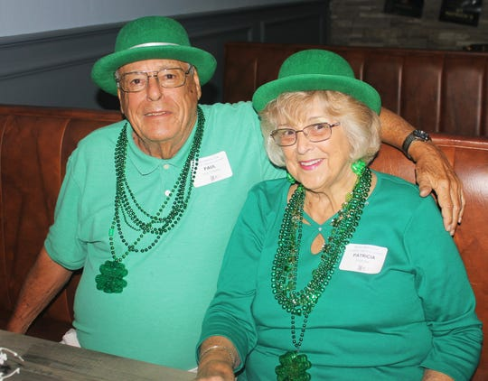 Paul Holtzman abd Patricia Fiorina have never missed a St. Pat's luncheon.