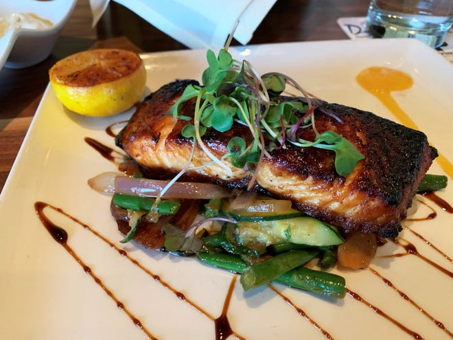 The charred salmon from Marco Prime.