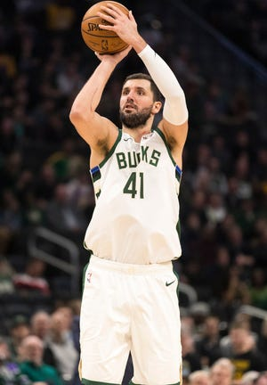 Bucks forward Nikola Mirotic scored 23 points Tuesday night.