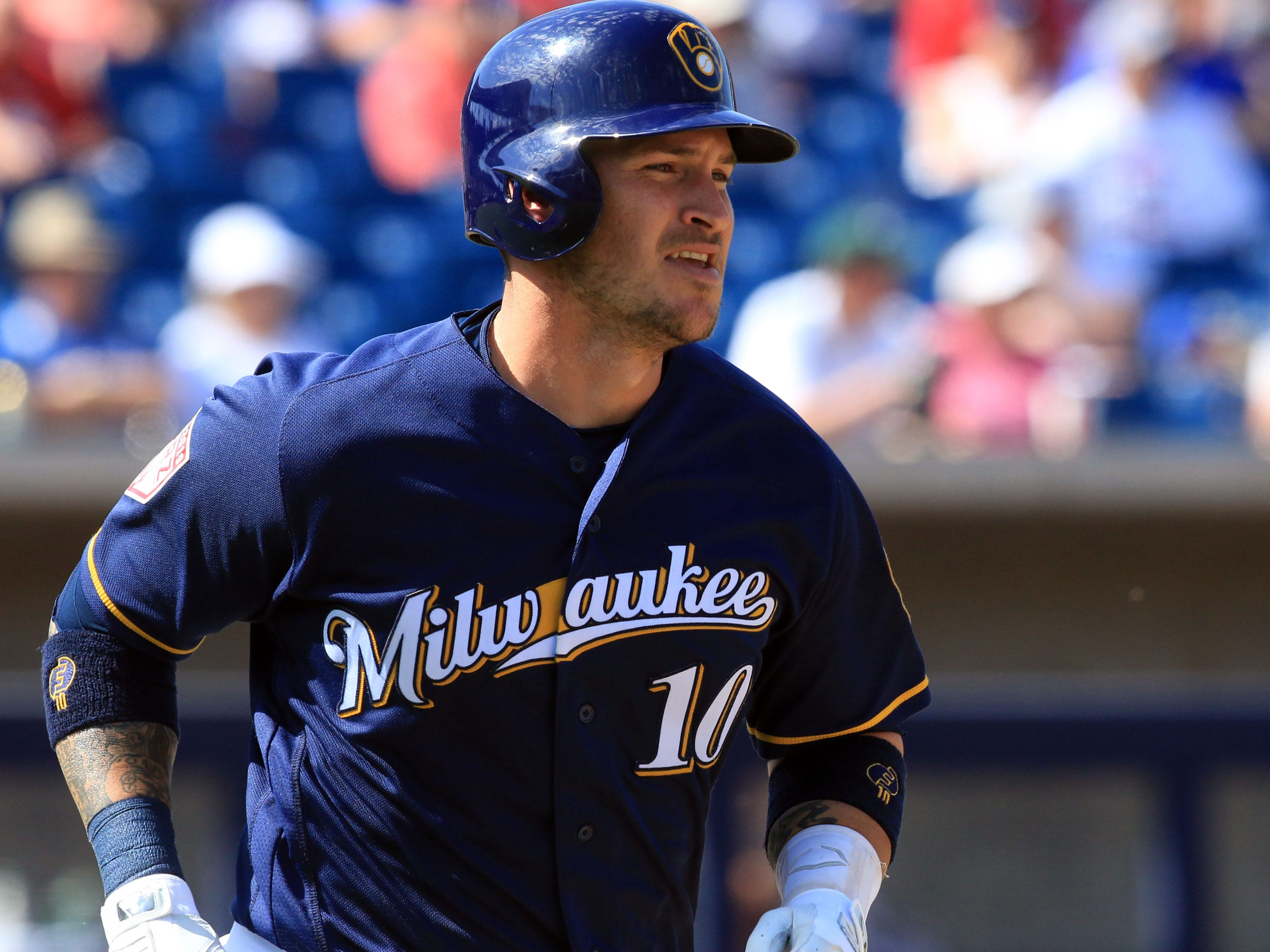 Catcher Yasmani Grandal was the big off-season acquisition for the Brewers.