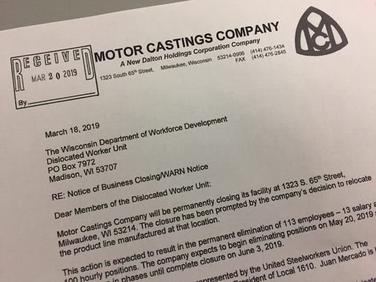 Two West Allis factories, Motor Castings Co. and CasTech Inc., will close at a cost of 117 jobs.