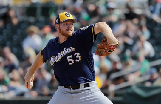 Brewers starting pitcher Brandon Woodruff made four spring appearances and posted a 1.84 ERA with a team-high 20 strikeouts in 14 2/3 innings.