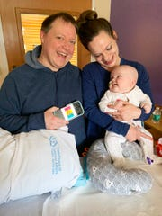 Brian and Amy McGrath took their 7-month-old son, Billy, home from Children's Hospital of Wisconsin on Tuesday after a two-month stay for Billy's bone marrow transplant. He was born with a genetic disorder that left his immune system unable to function.