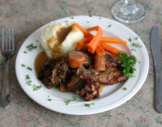 The roast turtle dinner at the Dorf Haus is served on Wednesdays and Fridays during Lent.
