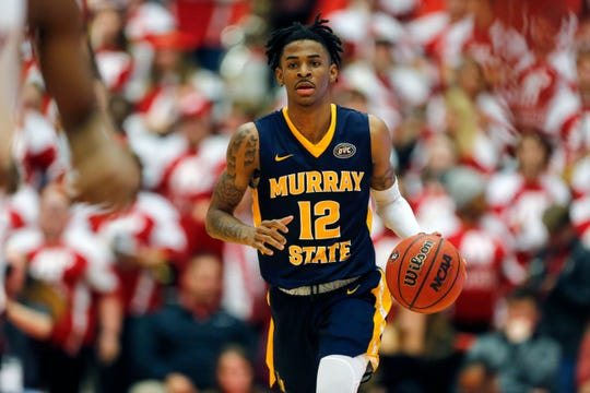 Murray State Racers guard Ja Morant scored 24.6 points per game during the regular season.