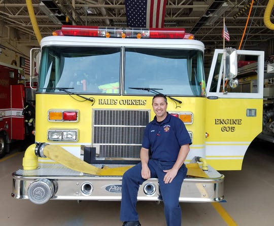 John P. Wagner poses for a 2017 photo posted on Facebook introducing him as a new captain at the Hales Corners Fire Department. Fire Chief Martin Freibergs submitted charges to the village police and fire commission seeking his termination for abandonment of post and sexual harassment.
