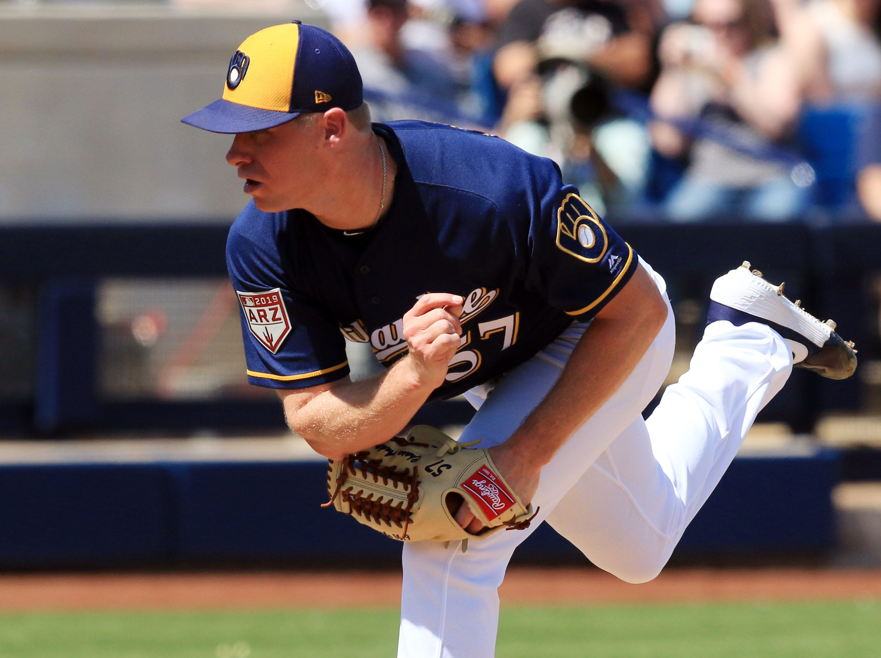 Brewers Chase Anderson pitched well after returning to his former delivery on Tuesday.