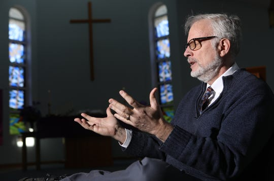 Pastor Jeff Edwards, speaks to the Daily Record of being falsely accused of a crime by Wells Fargo and the New Jersey State Police. Edwards, who is a practicing pastor at the United Methodist Church of Parsippany, said he is concerned that if this can happen to him, that being falsely accused could be even worse for others. Wednesday, March 20, 2019