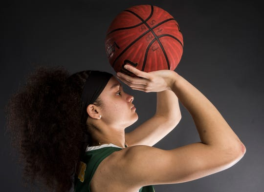 All-Metro athlete Carver's Kristin Brown poses for a portrait in Montgomery, Ala., on Thursday, March 14, 2019.