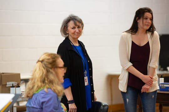 """From left, Marcy McGuigan, Greta Lambert and Sarah Thornton during rehearsal for """"Steel Magnolias"""" at the Alabama Shakespeare Festival. The play runs March 21-May 5, 2019."""