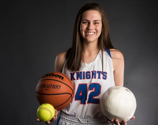 All-Metro athlete Macon-East's Madisyn Kennedy poses for a portrait in Montgomery, Ala., on Thursday, March 14, 2019.