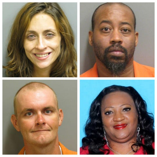 Ashely Nola (top left), Michael Wallace (top right), John Wessenberg (bottom left) and Cessia Walker-Sullivan (bottom right) are wanted by Montgomery County Sheriff's deputies
