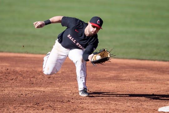 Ball State's John Ricotta hit a three-run home run against Purdue on Tuesday.