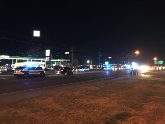 Murfreesboro police officers responded to a crash involving a car and pedestrian on South Church Street on Tuesday, March 19, 2019.