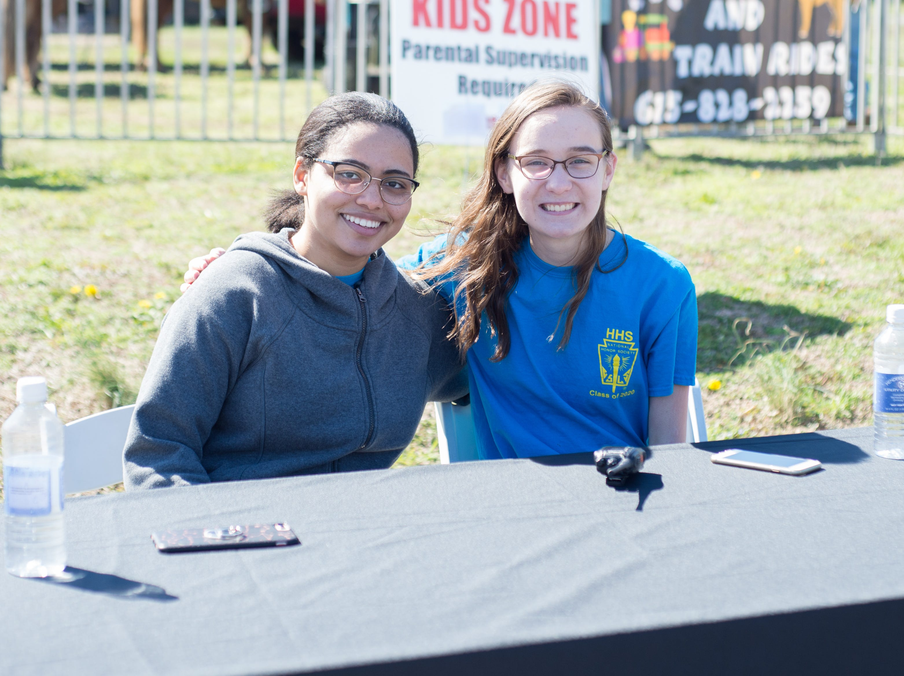 Jana Wildy and Madison Church help out with the Mid TN Babies and Beyond Fest and Be Healthy Hendersonville Expo Presented by Hendersonville Area Chamber of Commerce at Hendersonville High School on Saturday, March 16.