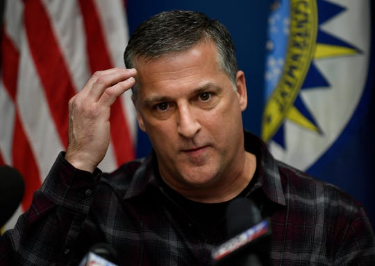 Nashville Metro Police Department officer Sgt. John Borque speaks during a press conference Wednesday.