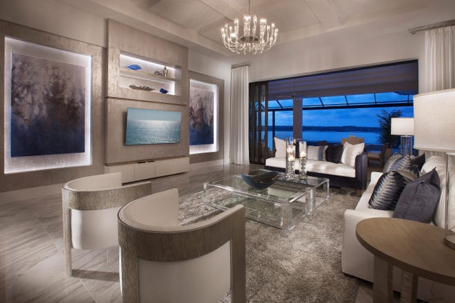 Priced at $2,489,825 fully-furnished,  the Wyndam model offers 4,298 square feet under air.