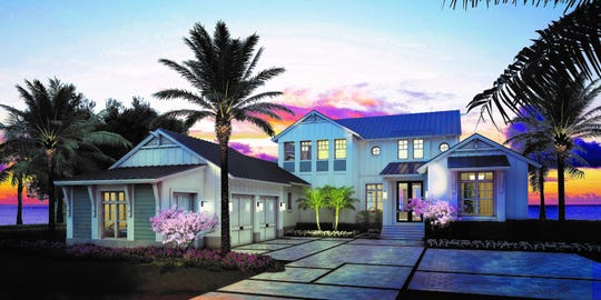 Rendering of  The Silver King model at Hill Tide Estates in Boca Grande.
